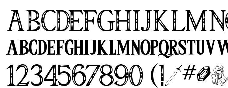 глифы шрифта Triforce, символы шрифта Triforce, символьная карта шрифта Triforce, предварительный просмотр шрифта Triforce, алфавит шрифта Triforce, шрифт Triforce