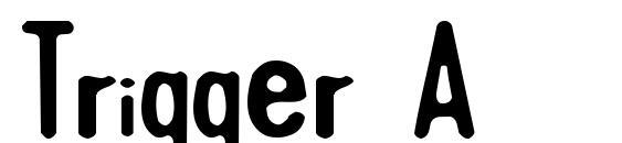 Шрифт Trigger A