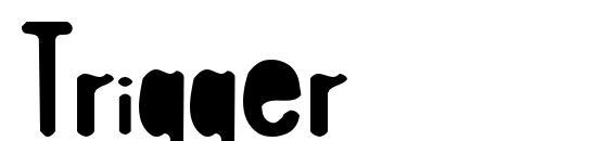 шрифт Trigger, бесплатный шрифт Trigger, предварительный просмотр шрифта Trigger