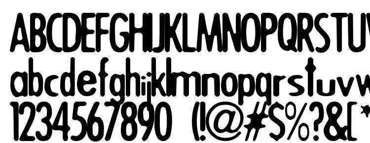 глифы шрифта Triggera, символы шрифта Triggera, символьная карта шрифта Triggera, предварительный просмотр шрифта Triggera, алфавит шрифта Triggera, шрифт Triggera