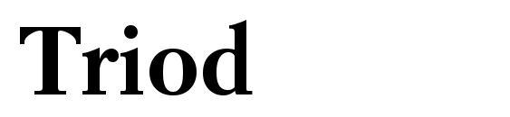 Шрифт Triod