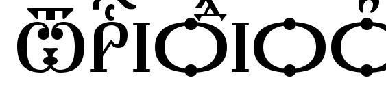 Шрифт Triodion Caps kUcs