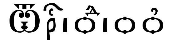 шрифт Triodion ieUcs SpacedOut, бесплатный шрифт Triodion ieUcs SpacedOut, предварительный просмотр шрифта Triodion ieUcs SpacedOut