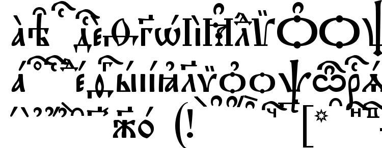 глифы шрифта Triodion kUcs, символы шрифта Triodion kUcs, символьная карта шрифта Triodion kUcs, предварительный просмотр шрифта Triodion kUcs, алфавит шрифта Triodion kUcs, шрифт Triodion kUcs