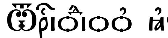 шрифт Triodion kUcs, бесплатный шрифт Triodion kUcs, предварительный просмотр шрифта Triodion kUcs