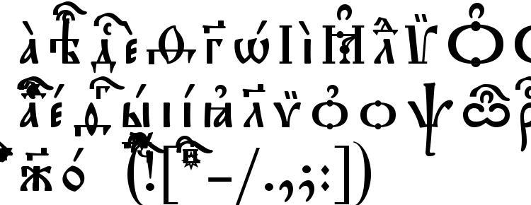 глифы шрифта Triodion Ucs SpacedOut, символы шрифта Triodion Ucs SpacedOut, символьная карта шрифта Triodion Ucs SpacedOut, предварительный просмотр шрифта Triodion Ucs SpacedOut, алфавит шрифта Triodion Ucs SpacedOut, шрифт Triodion Ucs SpacedOut