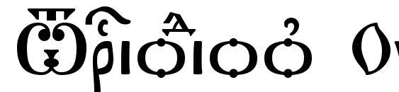 Шрифт Triodion Ucs