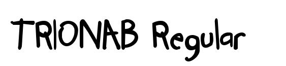 Шрифт TRIONAB Regular