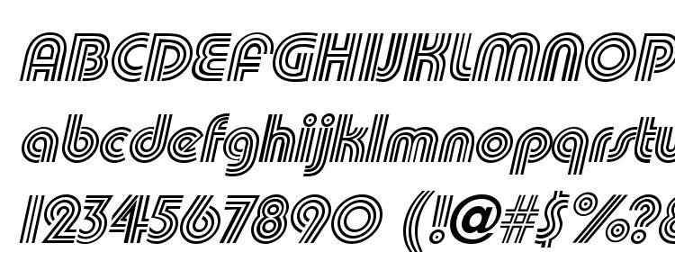 глифы шрифта Triplee Slanted, символы шрифта Triplee Slanted, символьная карта шрифта Triplee Slanted, предварительный просмотр шрифта Triplee Slanted, алфавит шрифта Triplee Slanted, шрифт Triplee Slanted