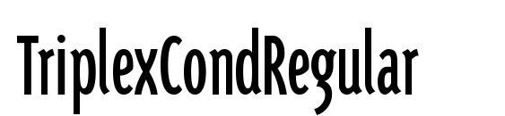 Шрифт TriplexCondRegular