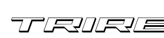 Шрифт Trireme 3D Italic