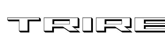 Шрифт Trireme 3D