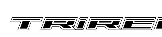 Шрифт Trireme Laser Academy Italic