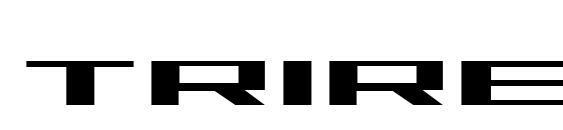 Шрифт Trireme