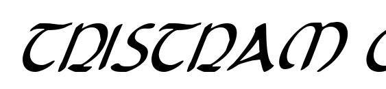 Шрифт Tristram Condensed Italic