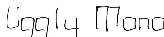 Uggly Monospaced Font