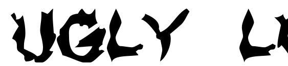 Ugly lover Font