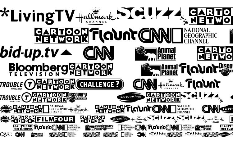Uk Digital Tv Channel Logos Font Download Free Legionfonts