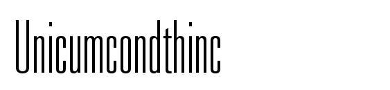 Unicumcondthinc Font, OTF Fonts
