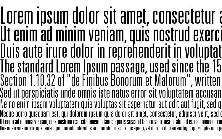 univers 49 light ultra condensed font