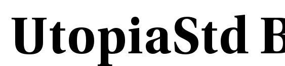 UtopiaStd BoldSubh Font, OTF Fonts