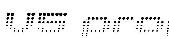 V5 prophit fading Font