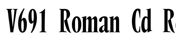 V691 Roman Cd Regular Font