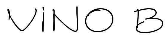 Vino Bianco ITC Font