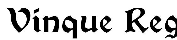 Vinque Regular Font