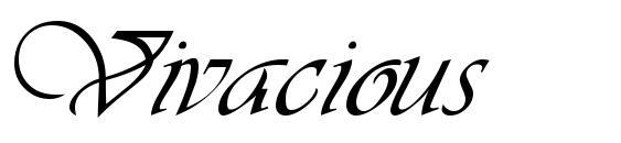 Vivacious Font, Elegant Fonts