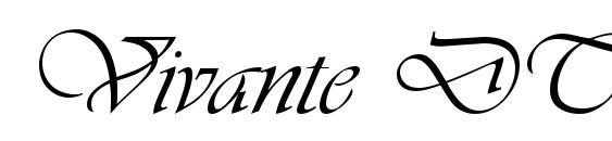 Vivante DTC ITALIC Font, Pretty Fonts