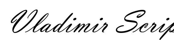 Vladimir Script Font, Elegant Fonts
