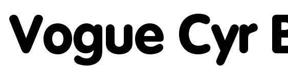 Vogue Cyr Bold Font