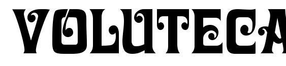 Volutecapsssk regular Font, Christmas Fonts