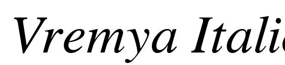 Vremya Italic Font, Beautiful Fonts