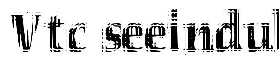 Vtc seeindubbledointriple regular Font, Christmas Fonts