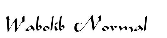 Wabolib Normal Font, Handwriting Fonts