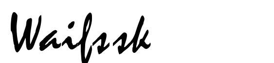 Waifssk Font, Sans Serif Fonts