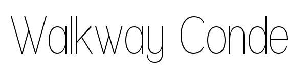 Walkway Condensed font, free Walkway Condensed font, preview Walkway Condensed font