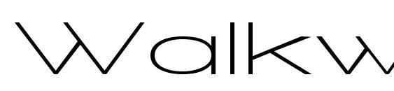 Walkway UltraExpand SemiBold Font