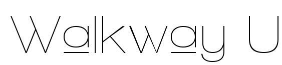 Walkway Upper Font