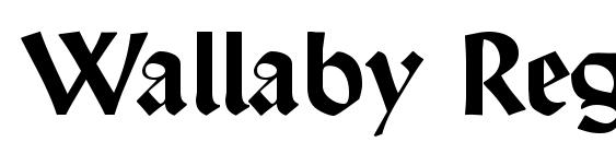 Wallaby Regular DB Font