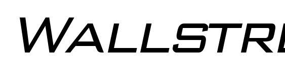 Wallstreet italic Font