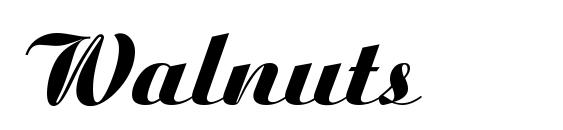 Walnuts Font, Beautiful Fonts