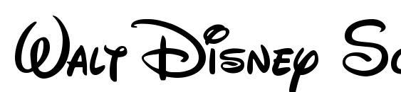 Walt Disney Script v4 1 Font Download Free / LegionFonts