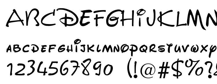 Walt Disney Script Font Download Free / LegionFonts