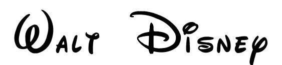 Walt Disney Script Font, Handwriting Fonts