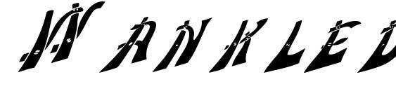 Wankledisplaycaps Font, Retro Fonts