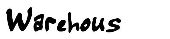 Warehous Font, Handwriting Fonts