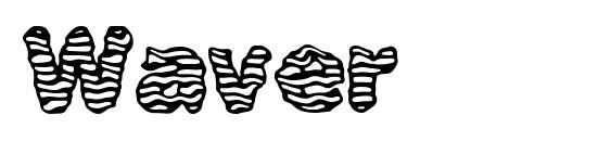 Waver font, free Waver font, preview Waver font
